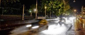 Gli allagamenti nella notte a Napoli provocati dal maltempo che si è abbattuto sulla città