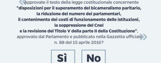Referendum, la scheda è uno spot per il sì. È la prova che Renzi ha paura