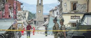 Amatrice, una lapide per ricordare le vittime del sisma di un mese fa