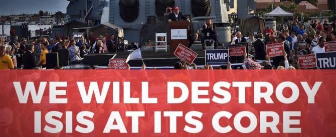 Trump promette «la pace attraverso la forza. Sconfiggerò l'Isis in un mese»