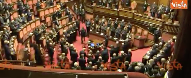Il Senato commemora Ciampi ma M5S e leghisti non si uniscono all'applauso (video)