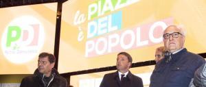 """La manifestazione Pd parte con un dispetto all'Anpi: la piazza canta """"Bella Ciao"""""""