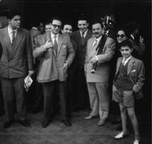 Pino Rauti alla commemorazione di Giovanni Gentile il 2 maggio del 1954, decimo anniversario della morte del filosofo