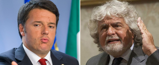 """Grillo a testa bassa contro Renzi: """"Bugiardo, fatti da parte come promesso"""""""