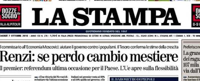Renzi conferma: «Se vince il No cambio mestiere». Poi difende Benigni…
