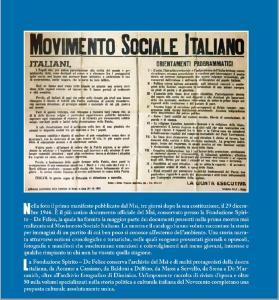 Appello agli italiani con i punti programmatici del Msi appena costituito il 26 dicembre del 1946
