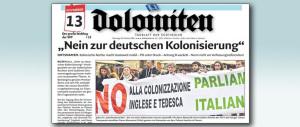 """Alemanno difende l'italiano, il Dolomiten lo attacca: """"Sei nazionalista"""""""