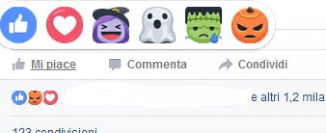 Halloween, cambiano le faccine di Fb: arrivano streghe, fantasmini e zucche