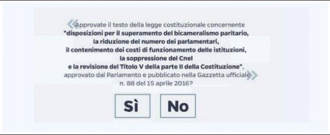 Ricorso contro il referendum: entro dieci giorni la sentenza del Tar