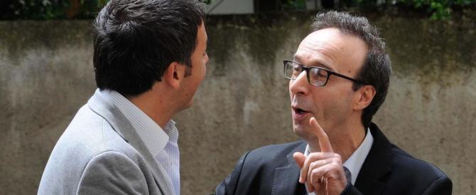 """Renzi ringrazia Benigni per il sì al referendum """"imbucandolo"""" da Obama"""