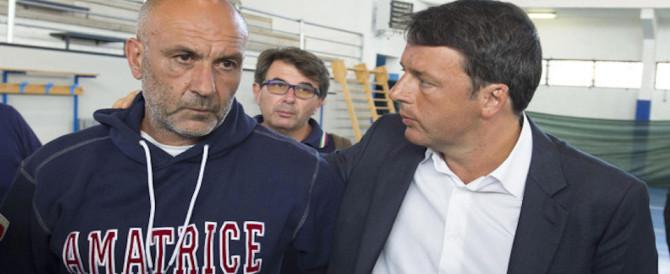 A 24 ore dai crolli Renzi aizza le polemiche: ricostruiremo senza ladri