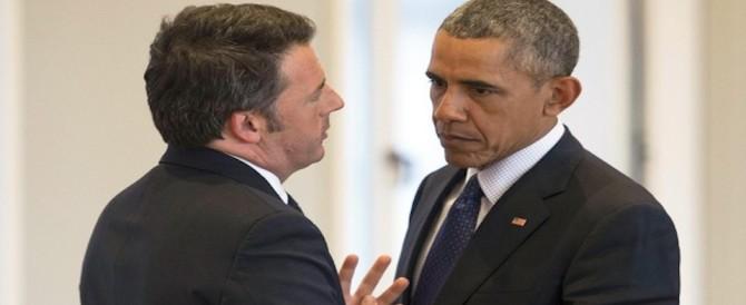 Tu vuò fa l'americano. Renzi vola negli Usa per un aiutino al referendum
