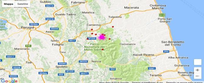 Terremoto nel centro Italia: epicentro a Castelsantangelo, magnitudo 5,4