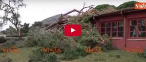 Le immagini dei danni causati dalla tromba d'aria a Genova (video)