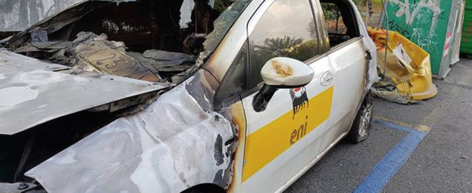 Genova, a fuoco auto dell'Eni, la Digos sospetta un gesto degli anarchici