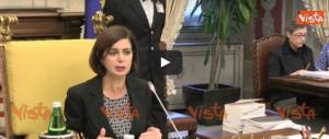 """La Boldrini parla del """"razzismo"""": «Pure in aula discorsi irrispettosi» (video)"""