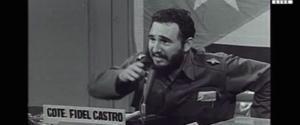 Castro in una delle sue giovanili apparizioni in tv