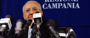 Campania: De Luca si smarca dal Pd, ma non vuole che si sappia in giro
