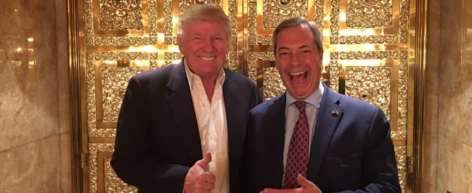 """Farage ricevuto da Donald Trump: """"Sarà un buon presidente"""""""
