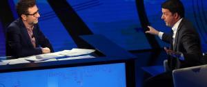 Sette milioni di spettatori (col trucco) per il monologo di Renzi da Fazio