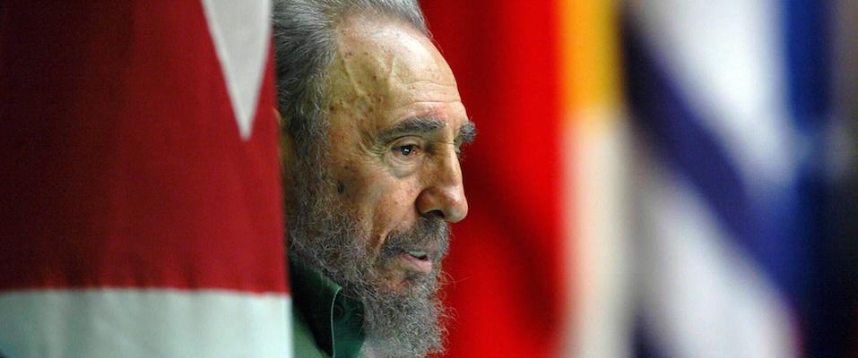 Fidel Castro in un'emblematica immagine del 2000