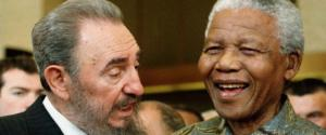 Il presidente Fidel Castro incontra Nelson Mandela