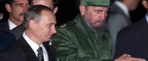 L'incontro nel 2000 tra Castro e un giovane Vladimir Putin