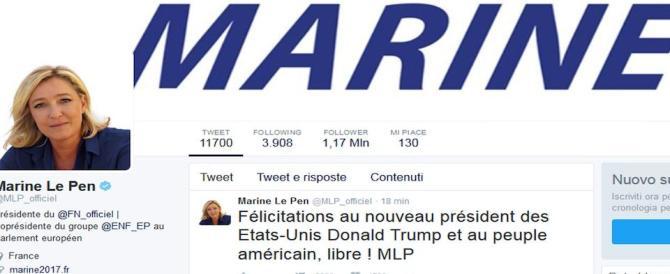 I Le Pen dopo la vittoria di Trump: «Oggi l'America, domani la Francia»