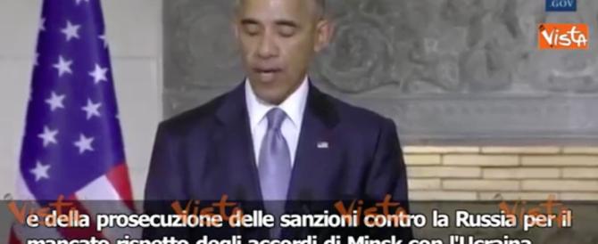Obama non molla: «Le sanzioni alla Russia devono restare» (video)