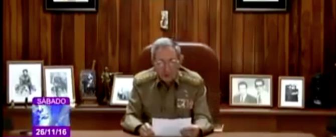 Raul Castro conferma in tv la morte di Fidel. Funerali il 4 dicembre (VIDEO)