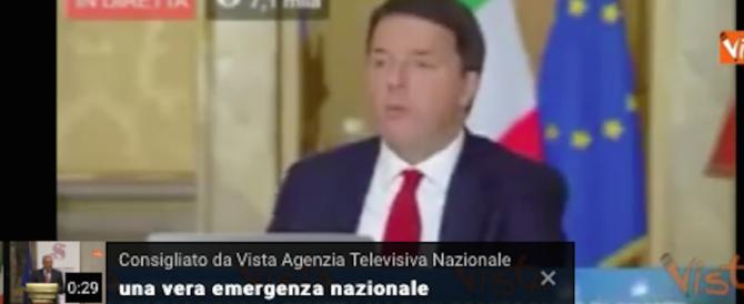 """Renzi sfida il ridicolo: risponde anche a un """"Fran Tumapal"""": ecco il video"""
