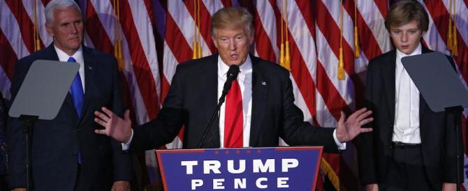 Trump sale sul palco e si emoziona: «Ve lo prometto, non vi deluderò mai»