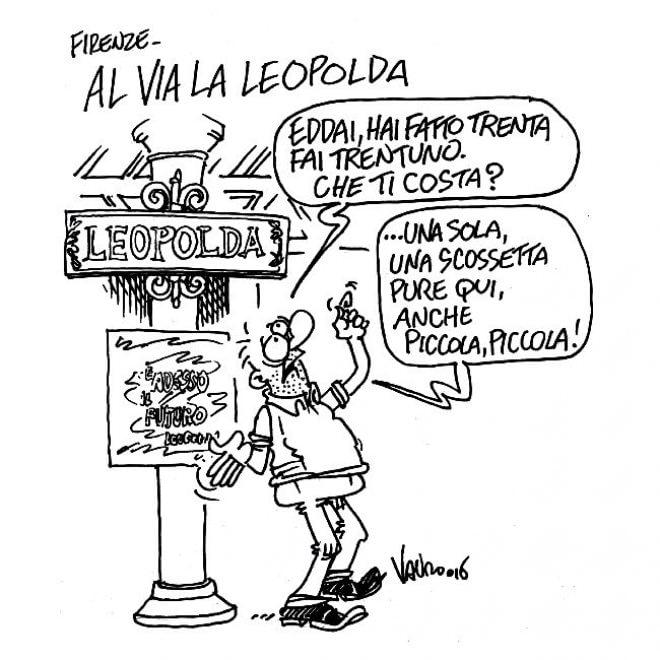 "Vignetta-choc di Vauro sulla Leopolda. Gasparri: ""Si indigna chi lo difendeva"""