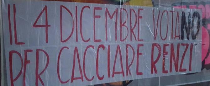 "Palermo tappezzata di striscioni ""Renzi Vattene, noi votiamo No"""