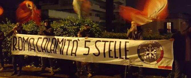 Roma, italiani sgomberati e clandestini nei palazzi: sit in di Casapound