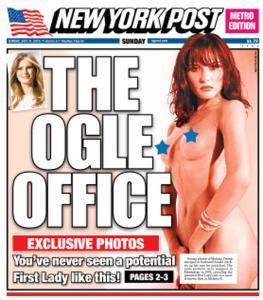 Usa 2016: NY Post pubblica foto Melania Trump senza veli