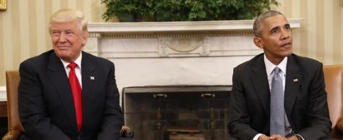 Un thè alla Casa Bianca. Trump: «Però, questo Barack è un gran brav'uomo…»