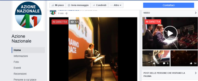 """""""Destra unita vota No"""" con Alemanno e Storace (diretta streaming dall'Adriano)"""