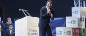 Renzi minaccia: «Se perde il Sì, peggio per gli italiani: non è un problema mio»