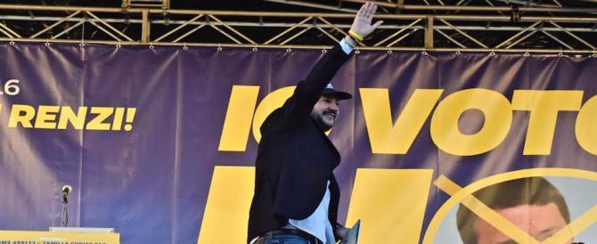 Salvini si candida: io ci metto la faccia. E denunciamo Renzi per le letterine agli italiani