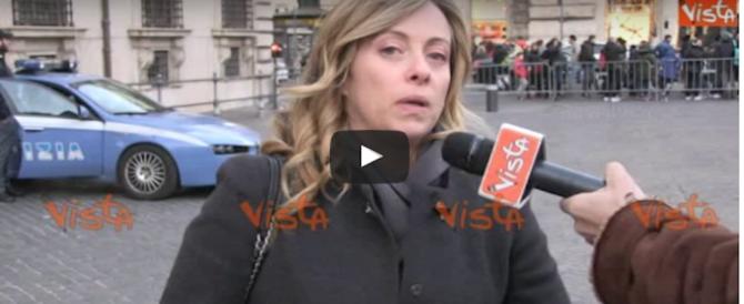 Giorgia Meloni agli italiani: «Vi auguro un 2017 di sovranità e libertà» (video)