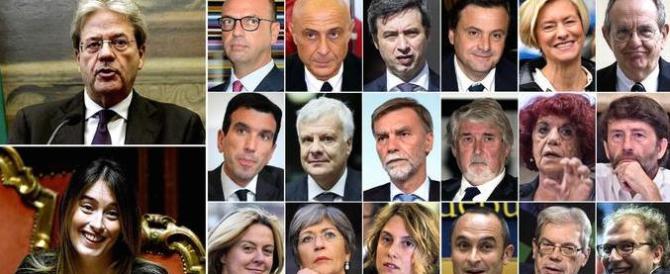 Governo Gentiloni, imbarazzante fotocopia dell'esecutivo Renzi
