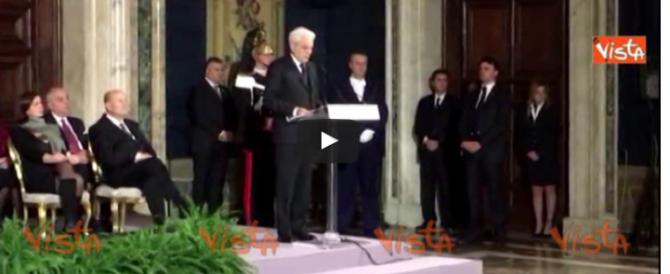 Mattarella: «Legge elettorale? Serve il consenso più ampio in Parlamento» (video)