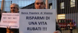 Popolare di Vicenza, centinaia di mln in fumo. Gasparri: «Governo irresponsabile»