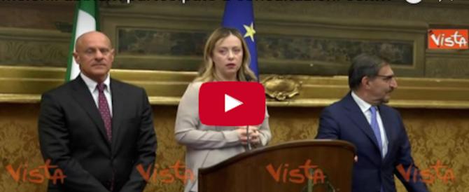 """Governo, Meloni: """"Siamo di fronte a un intollerabile gioco delle tre carte"""" (Video)"""