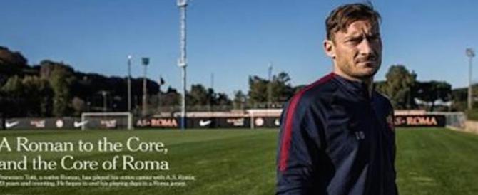 """Il Nyt incorona Totti: """"The Core of Roma"""". «Rimane solo lui dei grandi»"""