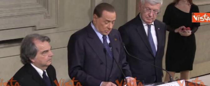 Berlusconi al Colle: «Non sosteniamo nessun governo, ci pensi il Pd» (video)