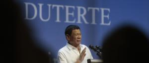 Duterte: «Voglio la pena di morte per i narcos, hanno distrutto le FIlippine»