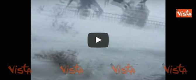 La spettacolare tempesta di neve che ha colpito il North Dakota (video)