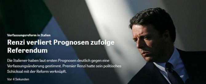 I giornali tedeschi: «E' fallito l'intero progetto politico di Renzi»